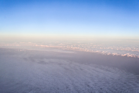 Abstract sky - cloudscape photography taken from above the clouds in an aeroplane