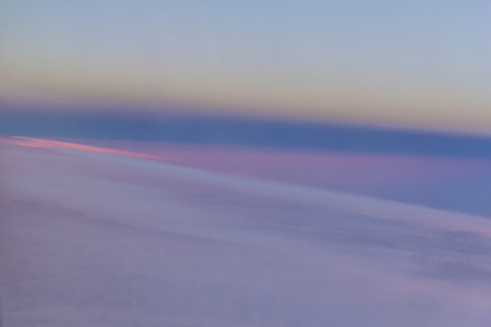 Abstract sky - sunset and clouds taken from an aeroplane