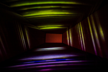 Abstract Box Light Painting Photography.