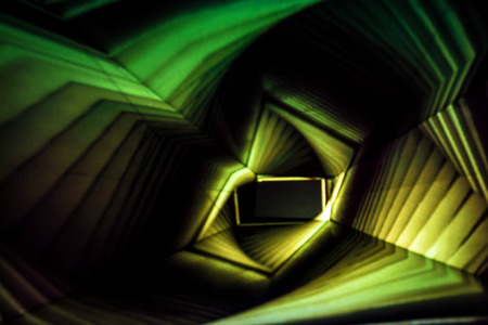 Abstract Light Painting Photography in yellow and green.