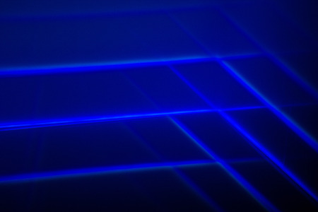 Abstract Blue Lights Photography. Stock Photo