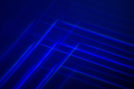 Blue Abstract Light Painting Photography.