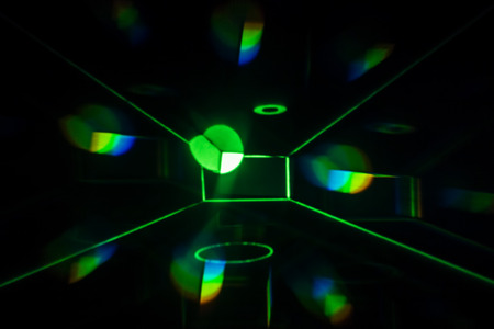 Green Light Painting in a Box - Abstract Photography.