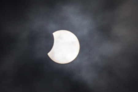 Solar eclipse from Cambridgeshire in the UK on 20th March 2015u