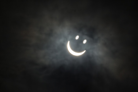 Photo of the solar eclipse with a smiley face 20th March 2015