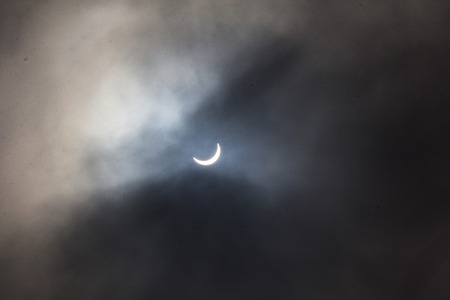 Photo of the solar eclipse through cloud on 20th March 2015