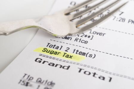 receipt: A receipt showing a sugar tax being charged