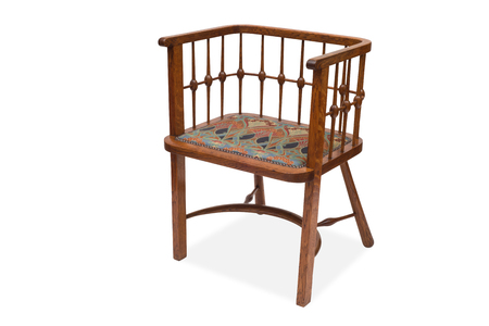 antique chair: A cut-out of an antique wooden chair Stock Photo