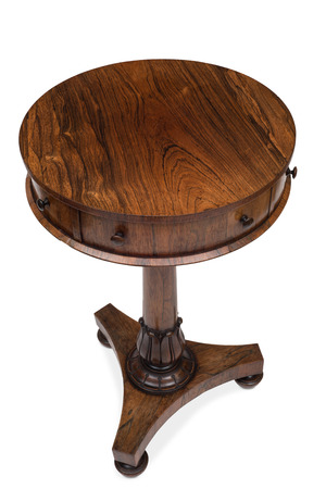 Oak Chair Side End Table With Formica Top Stock Photo Picture And