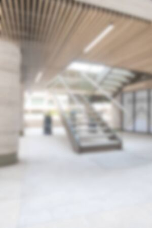 stairwell: Out of focus or blurred background of stairwell in city Stock Photo