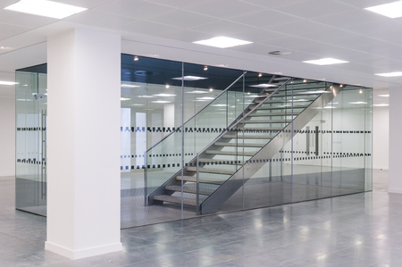 Stairs in contemporary office building