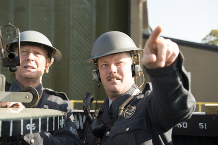 Two Royal Observer Corps Male Personnel