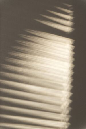 Window Blinds Shadow On Beige Wall For Abstract Or Backgrounds Stock