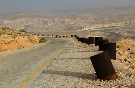arava: Desert Road with Barrels