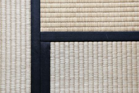 Japanese Tatami Rug Background with three Tatamis Joining Reklamní fotografie