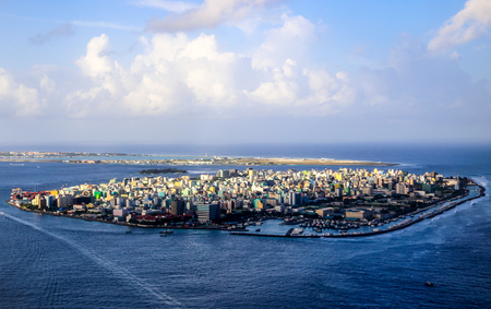 City of Male, capital of the Maldives. Imagens