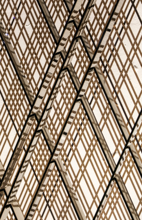 diagonals: Cross pattern with reflections along diagonals Stock Photo