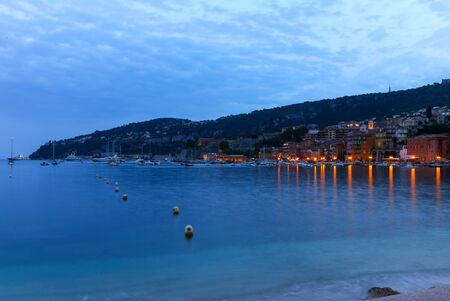 villefranche sur mer: Evening view of Villefranche sur mer in the French Riviera Stock Photo