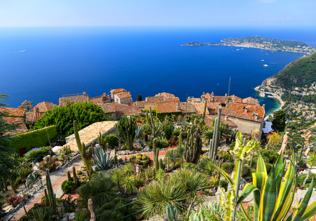 Botanical garden in Eze sur mer, French Riviera.