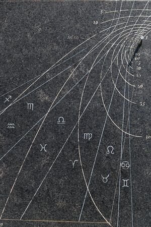 sundial: Antique sundial showing time and season