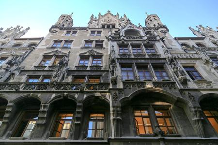 cityhall: Munich gothic cityhall at marienplatz