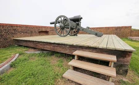Old war cannon in Fort Pulaski, Georgia. Reklamní fotografie