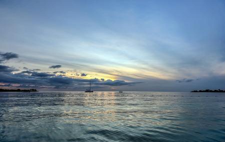 carribean: Sunset at a beach in the Carribean Sea.