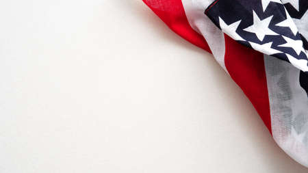 Happy Veterans Day concept. American flag isolated on white background.