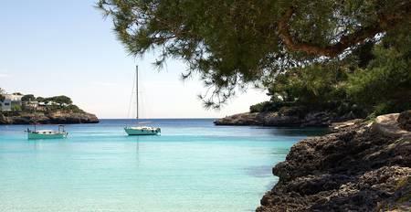 gran: Mallorca Cala Gran Stock Photo