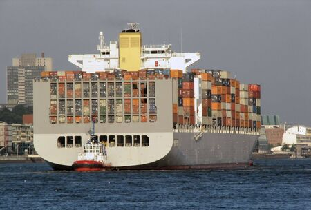 containership: Container ship Stock Photo