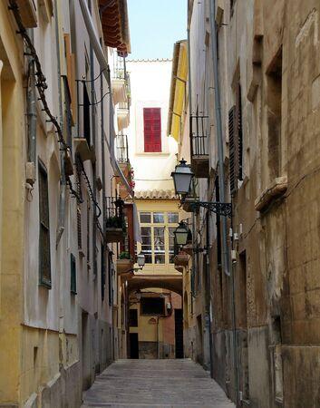 palma: old street in Palma de Mallorca