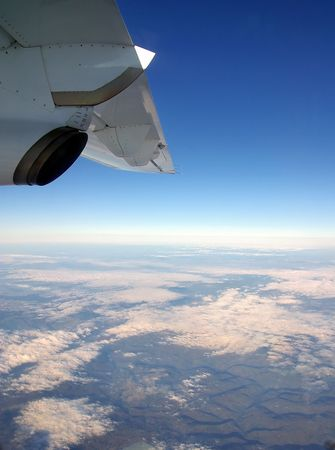 turboprop: View the window out a turboprop airplane