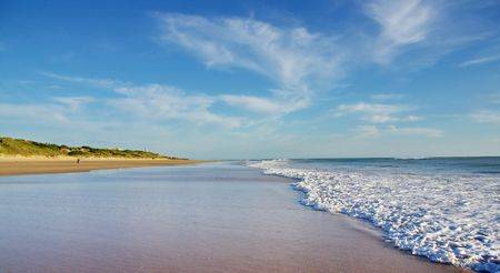 beaches of spain: Andalusian beach Stock Photo