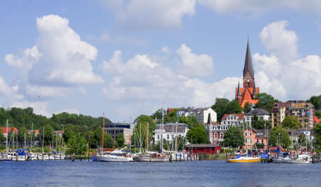 eligible: Flensburg Harbour a vela Archivio Fotografico