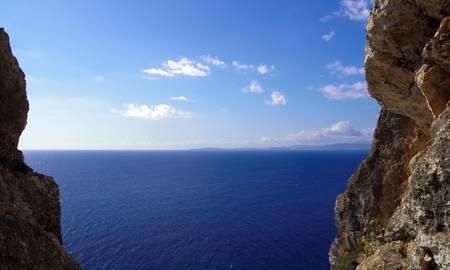 hillwalking: Overlooking the Mediterranean Sea