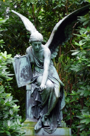 angel cemetery: an old Angel Tombstone in Hamburg