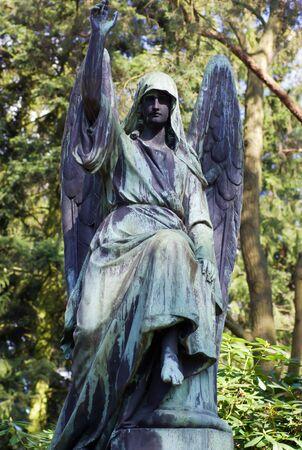 churchyard: Angel statue on cemetery