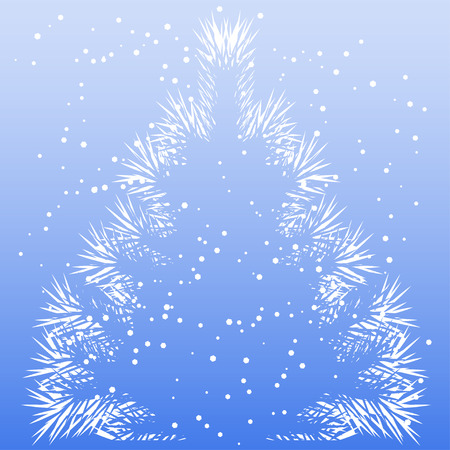 frost: Christmas tree frost pattern