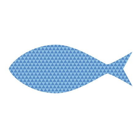 blue fish: Fish with blue triangle pattern Illustration