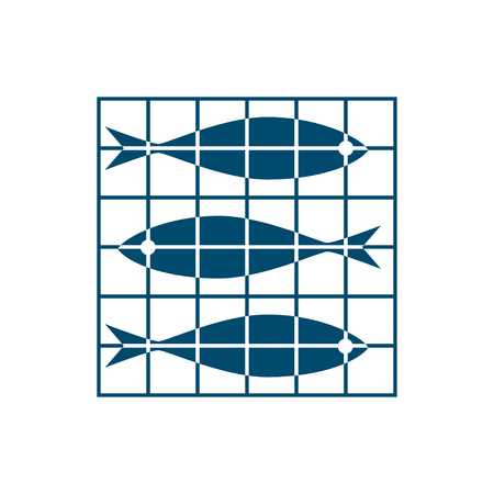 sardine: Fishes in the net Illustration