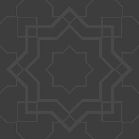 gray: Gray arabesque seamless pattern