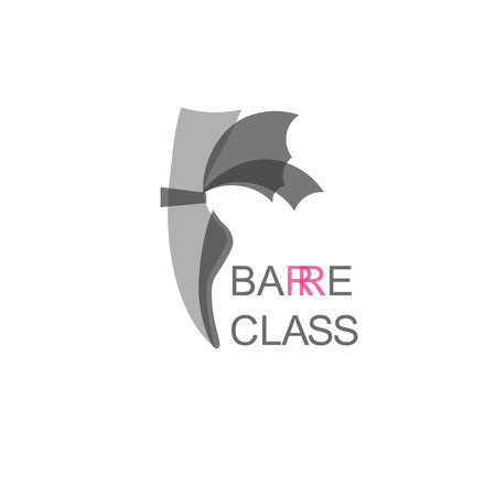 barre: Pointe shoe with wings barre class logo