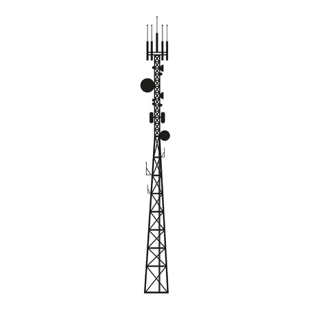 Telecommunication mast or mobile tower with satellite antenna Reklamní fotografie - 48466990