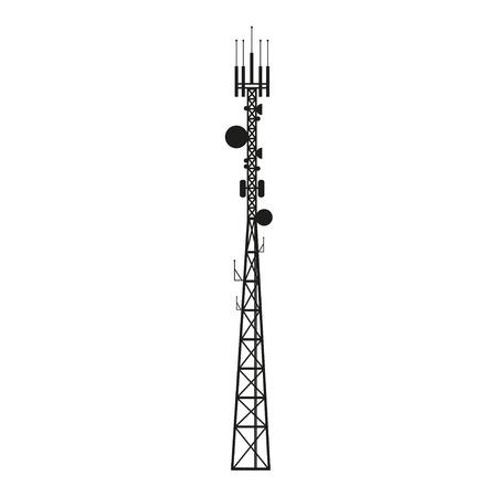 Telekommunikation Mast oder mobilen Turm mit Satellitenantenne Standard-Bild - 48466990