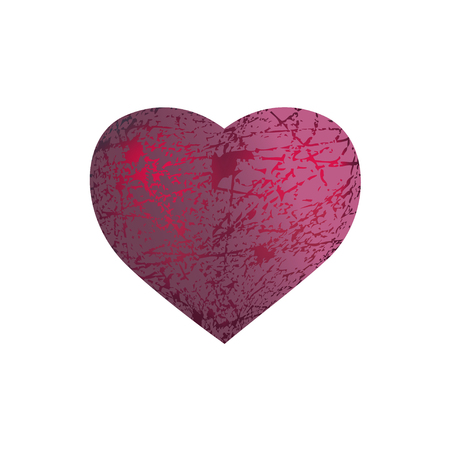 san valentin: Velvet pink heart glowing from inside san valentin symbol Illustration