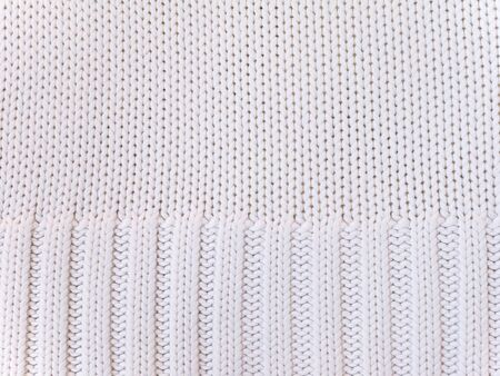 cotton fabric: White knitted cotton fabric cool weather background