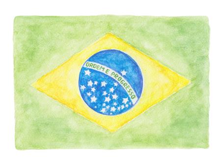 motto: Brazil flag with the national motto Ordem e Progresso (portuguese Order and Progress)