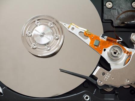 hard disk drive: Computer hard disk drive inside Stock Photo
