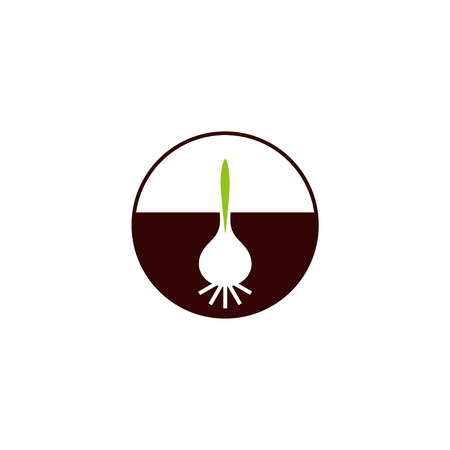 breeder: Bulb with green sprout flowers company design Illustration
