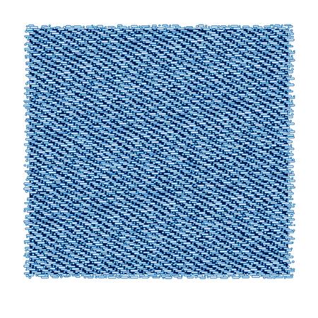 washed: Light blue washed denim fabric vector background Illustration